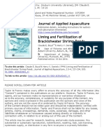 Liming and Fertilization of Brackishwater Shrimp Ponds
