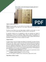 Breve Historia de Los Idiomas Hablados y Escritos de La Biblia