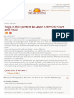 Yoga is That Perfect Balance Between Heart and Head _ Art of Living India