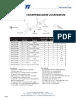 BICSI TGBKT Pattern Telecommunications Ground Bar Kits