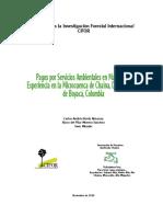 Adjunto 2 CIFOR.pagos Por Servicios Ambientales en Marcha La Experiencia en La Microcuenca de Chaina
