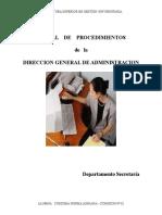 Manual de Procedimientos Administrativo-Dpto Secretaria.doc