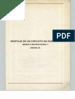 Vol. 26 Montaje de un Circuito Paralelo Módulo Instruccional 7 Unidad 26
