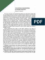 Bank Accounting Principles- A Progress Report
