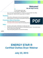 Energy Star Dryer Webinar