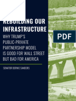 Sanders's report on Trump's infrastructure package