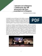 El Ser Peruano en La Diaspora. 189 Aniversario Del Peru