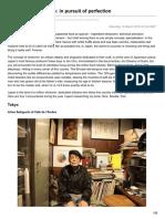 Japans Food Artisans in Pursuit of Perfection