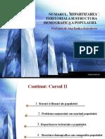 Numarul, Repartizarea Teritoriala Si Structura Demografica A