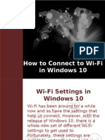How to Connect Wi-Fi in Windows 10