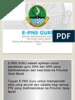 Persentasi E-PNS GURU