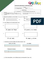 Evaluación de las consonantes m, l, m, p