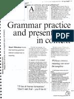 Grammar Practice and Presentation in Context