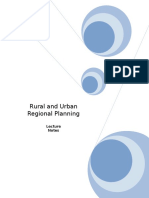 Rural and Urban Regional Planning (EMT 425 )_Notes