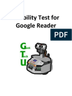 Usability Test for Google Reader