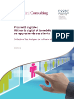 Proximite Digitale - Utiliser Le Digital Et Les Medias Sociaux Pour Se Rapprocher de Ses Clients - Essec - Capgemini Consulting