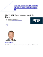 75 Kpi Every Manager Should Know