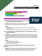Efficiencies and Savings 2015