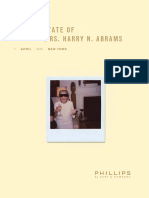 Catalogue THE ESTATE OF MRS. HARRY N. ABRAMS 7 APRIL 2010 NEW YORK