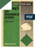 1977 Zamfir Strategii Ale Dezvoltari Sociale