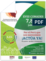 Convocatoria Oficial a La XVIII CONADES