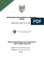 Mision Social Del Arquitecto (Ensayo)