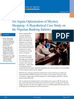 Six Sigma Mystery Shopping Nigerian Banking