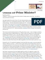 The Atlantic - Obama for Prime Minister