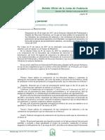 Adscripción opositores por tribunales, Maestros Andalucía 2017