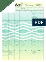 Bethel Calendar Summer 2017
