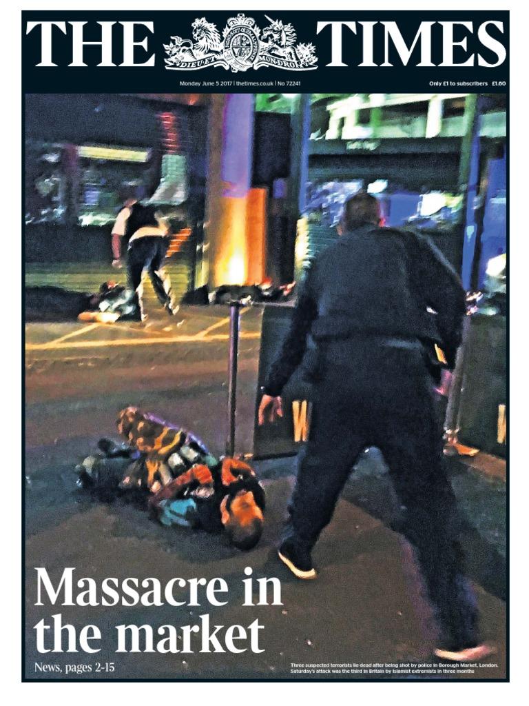 The Times 5 June 2017 Counter Terrorism Politique