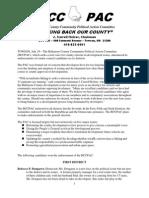 2010 Baltimore County PAC Endorsements