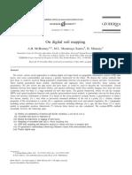 McBratney Et Al. - On Digital Soil Mapping