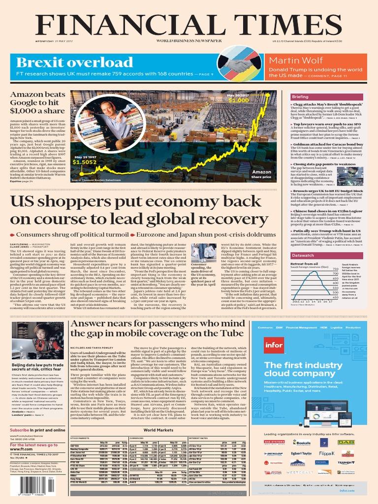 1fb43040b704 Financial Times UK 31 May 2017