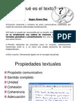 El Texto, Tipos y Propiedades