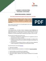 LLAMADO A CONVOCATORIA   PSICÓLOGO/A  INSTITUCIONAL- UNES/REDTRASEX
