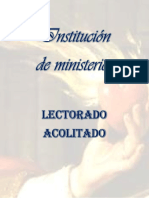 folleto Ministerios
