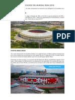 Los Estadios Del Mundial Rusia 2018.