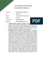 Politica de Tratamiento de Datos Personales Faro Consultores y Asesores