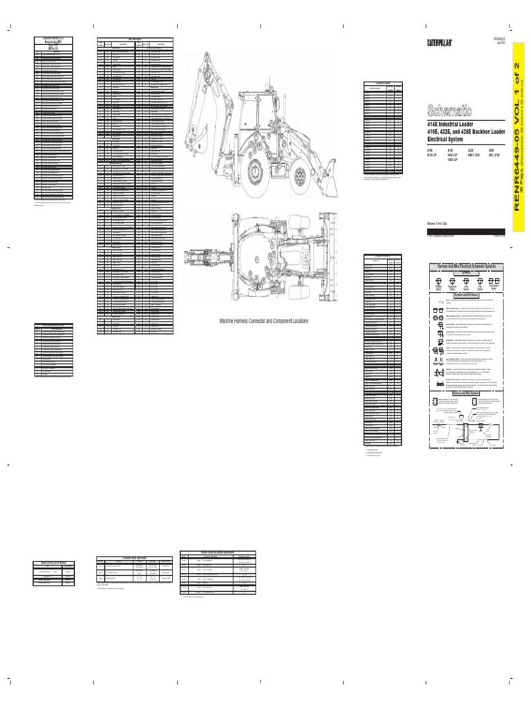 Esquema Electrico242483233 Caterpillar 416e Retro Pdfpdf 24 Volt 8030 Alternator Wiring Diagram