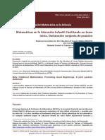 Revista Dialnet Matematicas en La Educacion Infantil