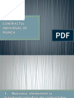 Contractul Individual de Muncă (1)