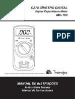 Capacímetro Digital - MC153 MINIPA
