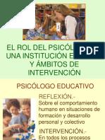El Rol de Psicólogo en Una Institución