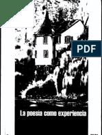 Lacoue - Labarthe Poesía Como Experiencia