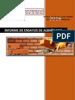Informe de Los Ensayos de Albañilería