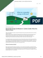Renewable Energy Certificates vs Energy Certificates
