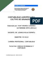 Contabilidad Agropecuaria Cultivo de Granadilla