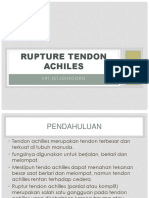 Rupture Tendon Achiles