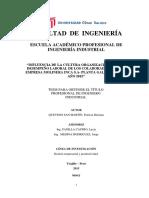Cultura Organizacional de Molinera Inca